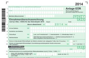 Anlage EÜR für die Einkommenssteuer